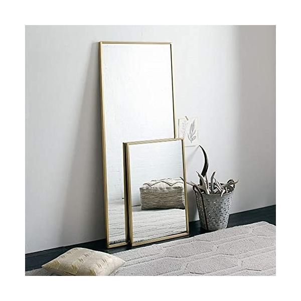錬鉄製スクエアバスルームミラー衣料品店寝室の床フルボディミラーバスルームの壁鏡|highlight|04