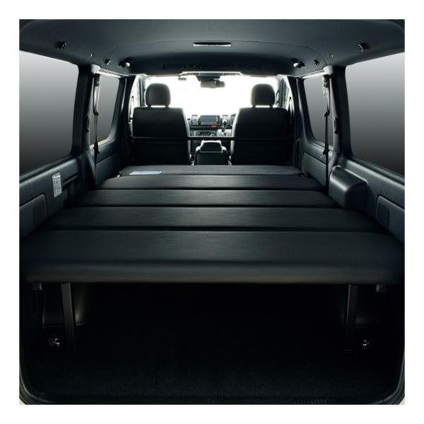 ハイエース ベッドキット 車中泊  200系 4型・新型ハイエース 5型 適合 標準ボディ スーパーGL専用 ブラックレザー 40mmクッション材