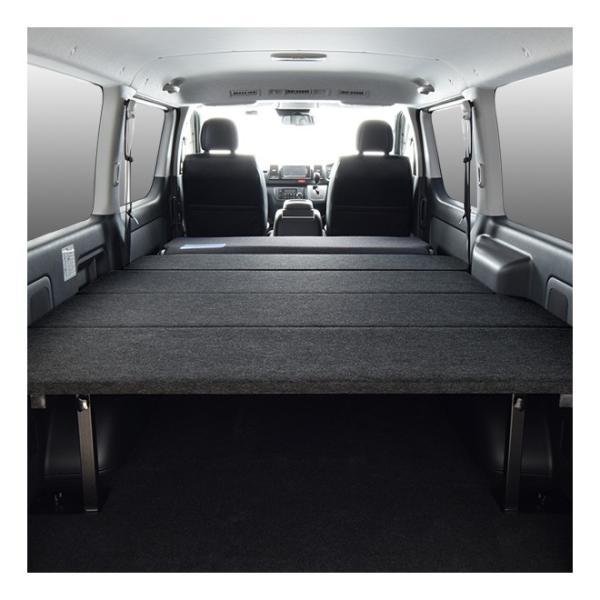 ハイエース ベッドキット 車中泊  200系 4型・新型ハイエース 5型 適合 標準ボディ スーパーGL専用 難燃パンチカーペット仕様  日本製