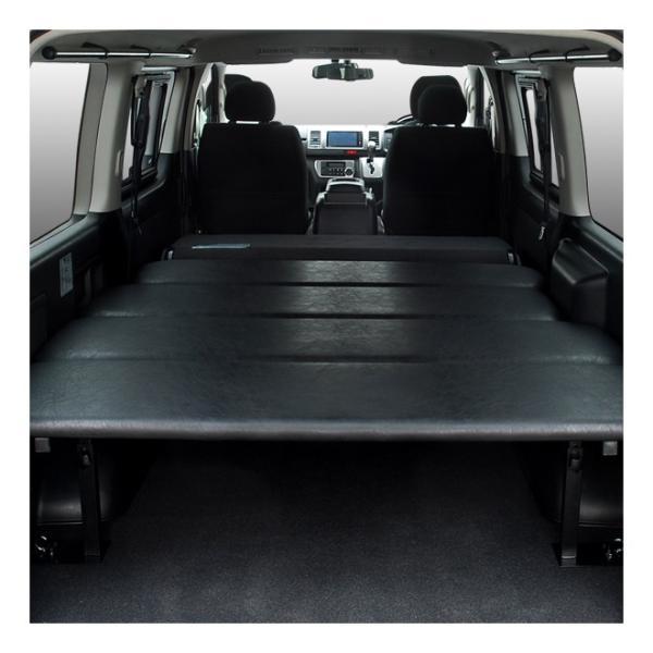 ハイエース ベッドキット 車中泊  200系 4型・新型ハイエース 5型 適合 標準ボディ スーパーGL専用 レザー仕様 20mmクッション材