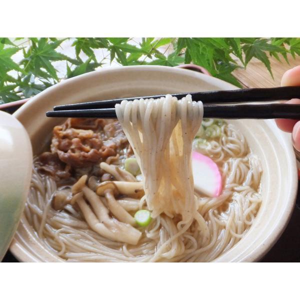 麺 熊本県産小麦 ギフト グルメコンテスト優勝店 手延べおすすめ麺(6パック12食入り無添加つゆ付)|higo-sougawa|04