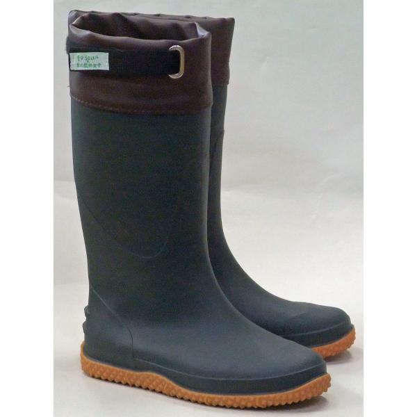 京の農林女子共同企画FU5004軽量作業長靴カーキレディース防滑防水レインブーツ園芸ガーデニング農作業
