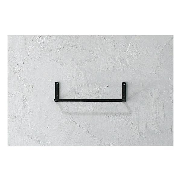 アイアン壁付けタオルハンガー  23cm 黒 DIY 部品 金物 金具