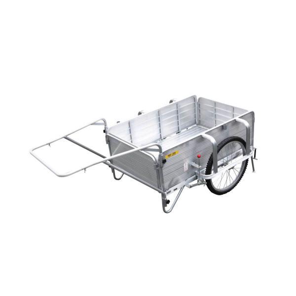 昭和ブリッジ アルミ製オリタタミ式リヤカー ブレーキスタンド付き 最大200kg用 SMC-3BS