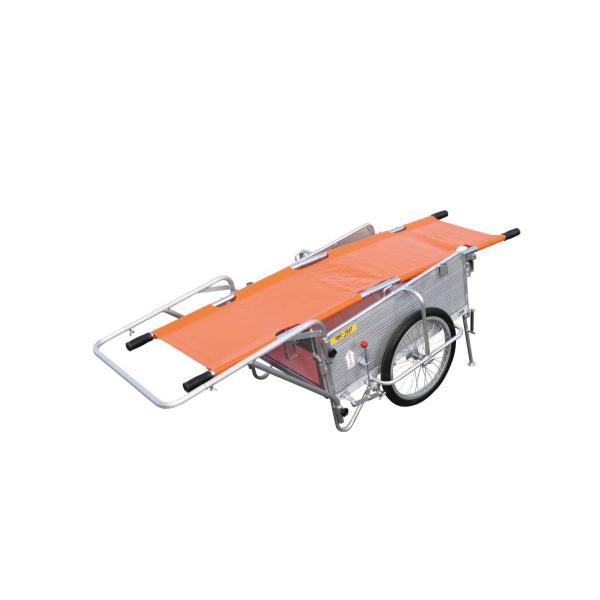 昭和ブリッジ アルミ製オリタタミ式リヤカー 担架ブレーキスタンド付き 最大200kg用 SMC-3BST
