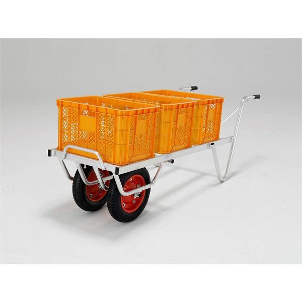 アルインコ(ALINCO) アルミ製台車 コンテナカー 2輪タイプ SKX-03W 3コンテナ用