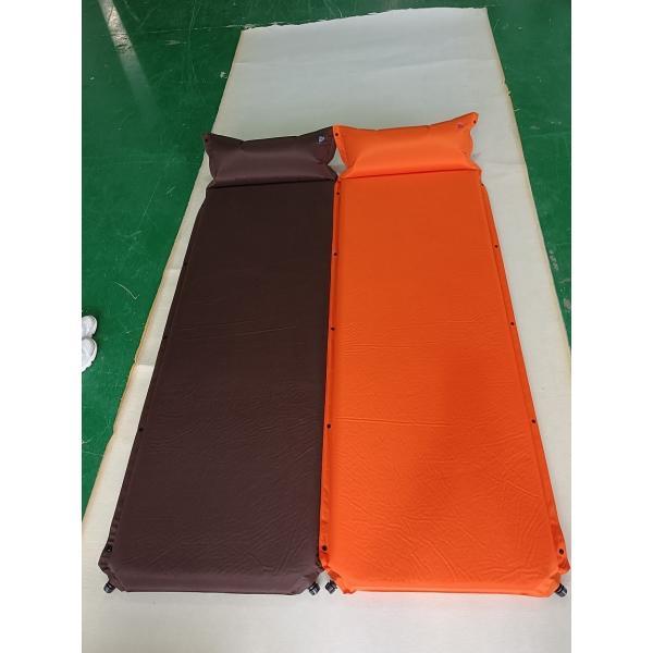 枕付きインフレーターマット 5cm オレンジ 《AX-IMP5-OR》