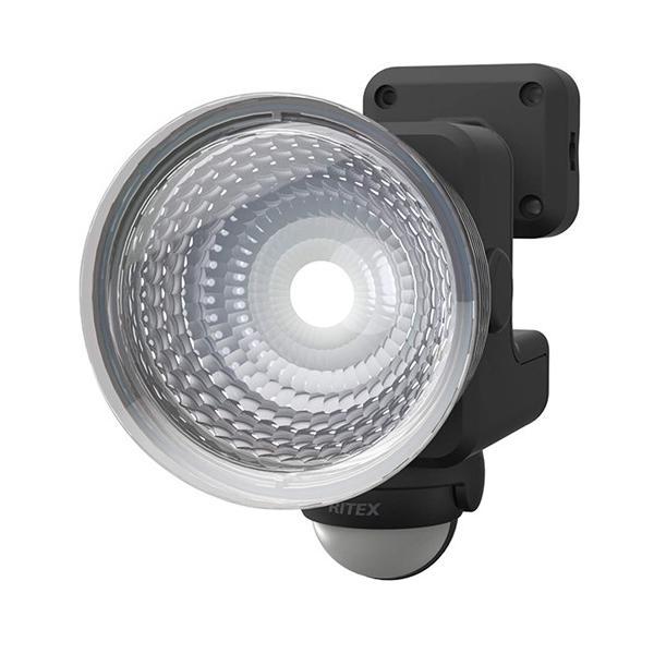 ムサシ RITEX フリーアーム式LEDセンサーライト 1.3W×1灯 乾電池式 防雨型 LED-115
