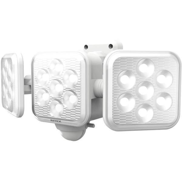 ムサシ RITEX フリーアーム式LED高機能センサーライト(5W×3灯) 「ソーラー式」 S-330L ホワイト