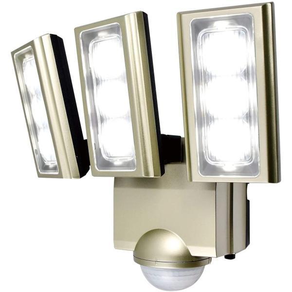 ELPA エルパ コンセント式 センサーライト 3灯 省エネ 安心の防水仕様 驚愕の明るさ 広範囲照射可能 フラッシュ・赤点滅機能搭載 ESL-ST1203AC