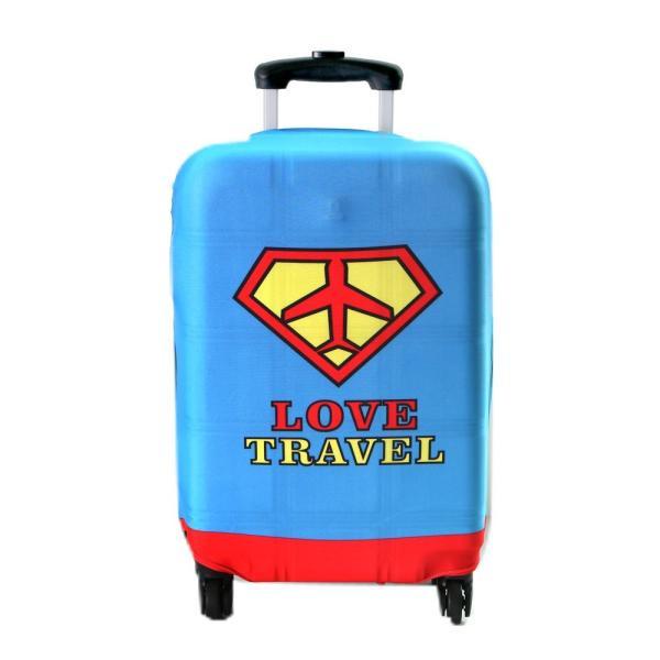 ルームアンドホーム スーツケースカバー スカイブルー 69×50×1cm キャリーカバー HEAVEN トラベル M