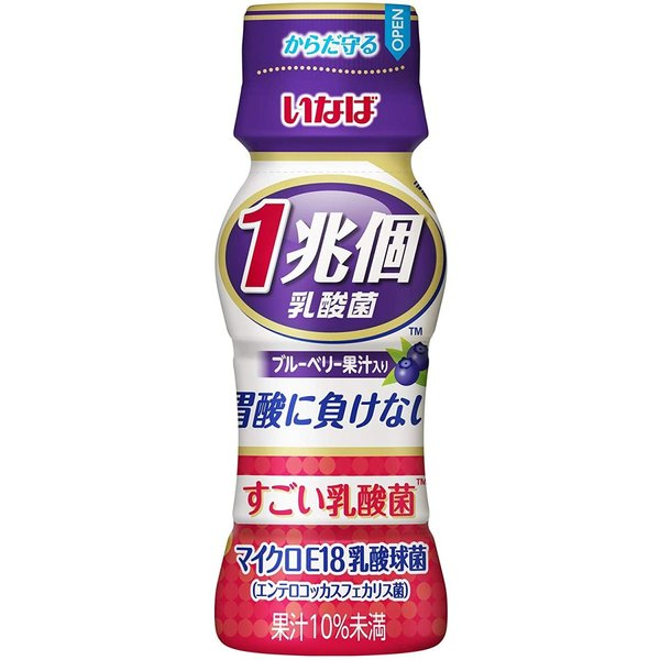 いなば食品 すごい乳酸菌 1兆個 ブルーベリー果汁入り 65ml ×10本