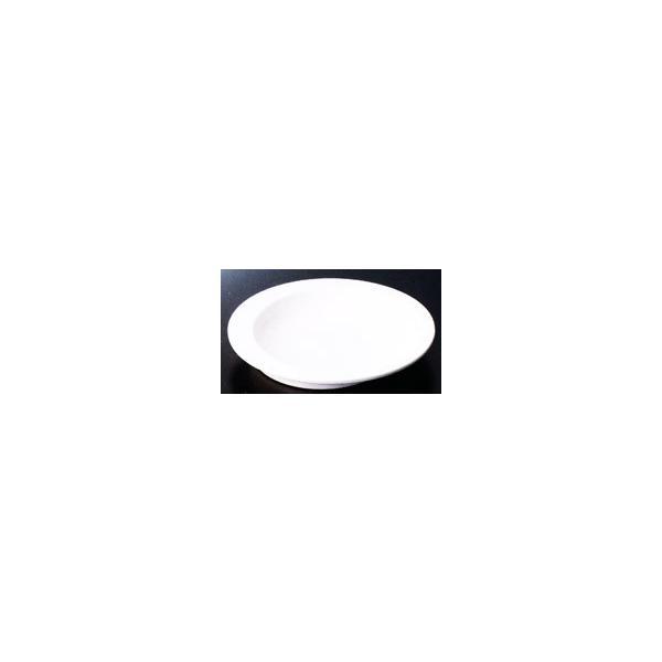 スリーラインメラミン食器 (自助食器)すくいやすい皿(アイボリー)230×36mm品番:AABT-23