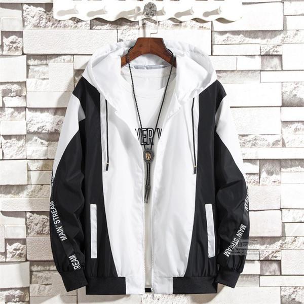 ウインドブレーカー メンズ ジャケット 春物 アウター マウンテンパーカー 配色 スポーツ アウトドア セール|hikari-fashion|11