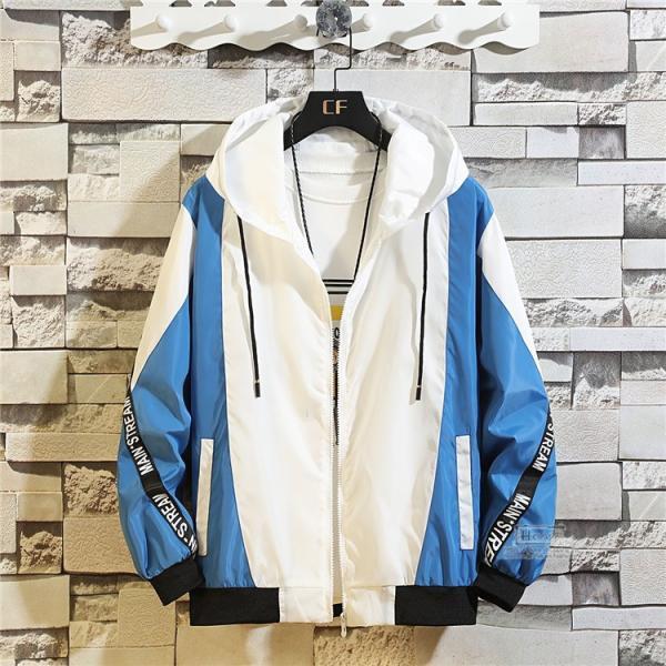 ウインドブレーカー メンズ ジャケット 春物 アウター マウンテンパーカー 配色 スポーツ アウトドア セール|hikari-fashion|06