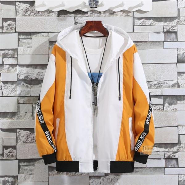 ウインドブレーカー メンズ ジャケット 春物 アウター マウンテンパーカー 配色 スポーツ アウトドア セール|hikari-fashion|07