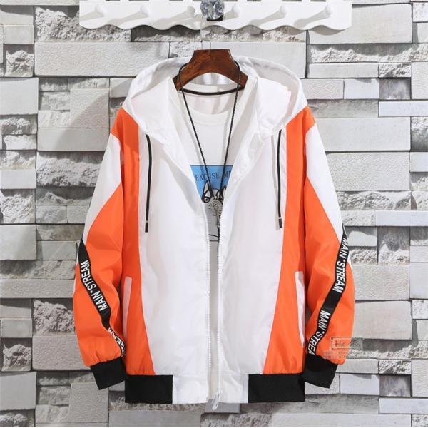 ウインドブレーカー メンズ ジャケット 春物 アウター マウンテンパーカー 配色 スポーツ アウトドア セール|hikari-fashion|10