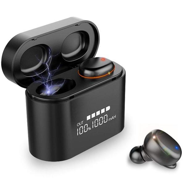 最新版 2019 Bluetooth5.0+EDR搭載 Bluetooth イヤホン Hi-Fi高音質 音量調整可 3Dステレオサウンド 完|hikarigarden|04
