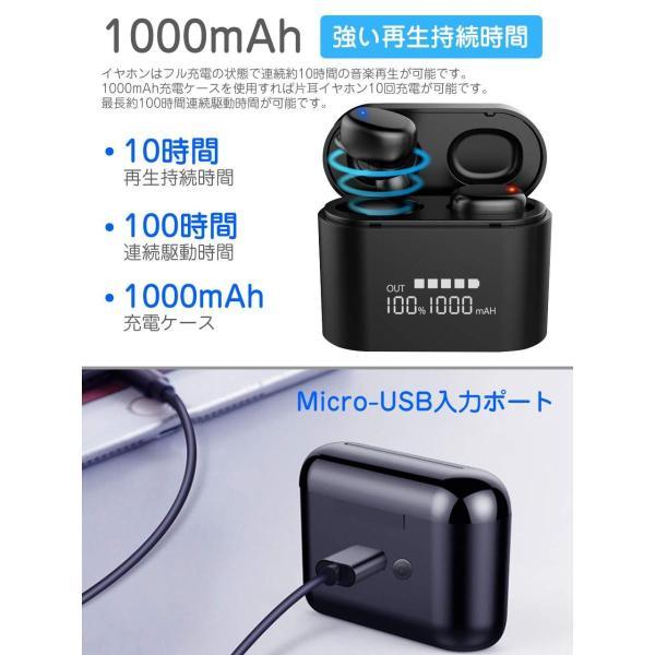 最新版 2019 Bluetooth5.0+EDR搭載 Bluetooth イヤホン Hi-Fi高音質 音量調整可 3Dステレオサウンド 完|hikarigarden|07