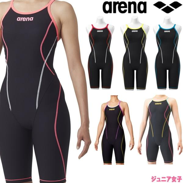 アリーナ ARENA 競泳水着 ジュニア女子 練習用水着 タフフライバックスパッツ タフスーツ タフスキン 競泳練習水着 SAR-9100WJ