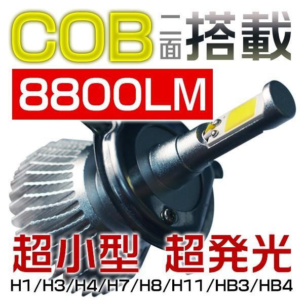 最大26倍ポイント&3%クーポンLEDヘッドライト フォグランプ COBチップ搭載 二面発光 LEDバルブ 8800LM H1 H3 H4 H7 HB3 HB4 6000K 快速起動 rd|hikaritrading1