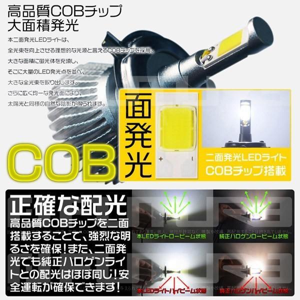 最大26倍ポイント&3%クーポンLEDヘッドライト フォグランプ COBチップ搭載 二面発光 LEDバルブ 8800LM H1 H3 H4 H7 HB3 HB4 6000K 快速起動 rd|hikaritrading1|02