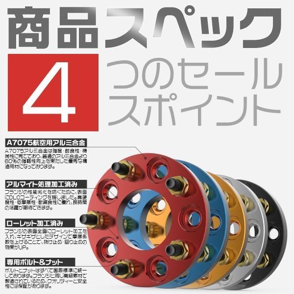 3%クーポン 送料無料 ワイドトレッドスペーサー ワイトレ ホイール フランジ 5穴 プロの鍛造 7075アルミ製 ボルト&ナット付 多様選択 2枚セット 1年保証|hikaritrading1|03