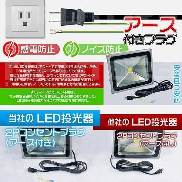 LED投光器 100W 1000W相当 led作業灯 昼光色6k 他店とわけが違う アース付き多用式プラグ 8500LM PSE適合 1年保証 送料無 2個JP|hikaritrading1|03