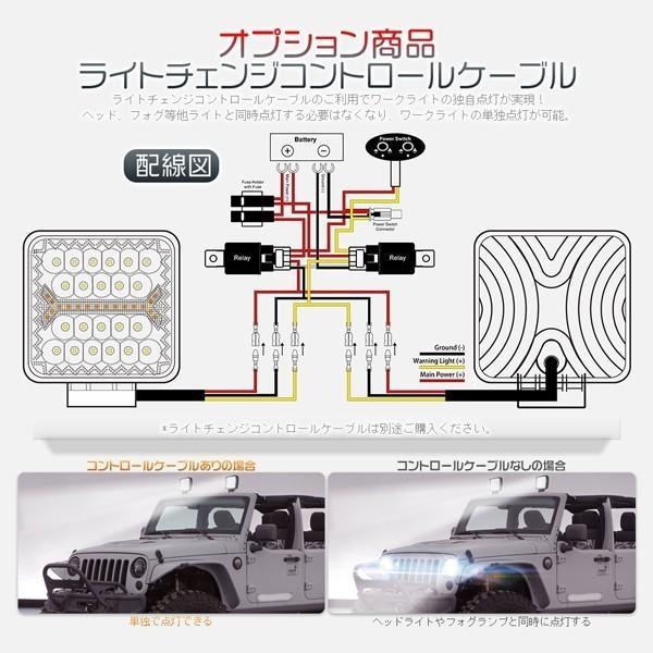 LED作業灯 ワークライト 66W 60W led投光器 5発光モード フラッシュ IP67防水 明るい トラック 集魚灯 12V/24V 丸型 角型 投光&集光両立 一年保証 10個FGYG|hikaritrading1|06
