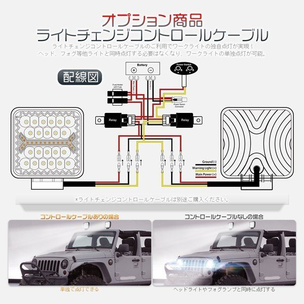 LED作業灯 ワークライト 66W 60W led投光器 5発光モード フラッシュ IP67防水 明るい トラック 集魚灯 12V/24V 丸型 角型 投光&集光両立 一年保証 8個FGYG|hikaritrading1|06