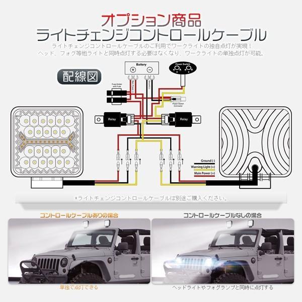 LED作業灯 ワークライト 66W 60W led投光器 5発光モード フラッシュ IP67防水 明るい トラック 集魚灯 12V/24V 丸型 角型 投光&集光両立 一年保証 1個FGYG|hikaritrading1|06