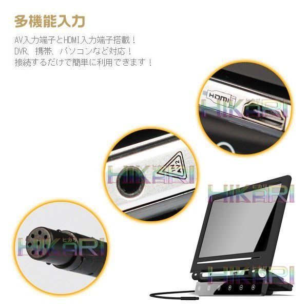 最大30倍ポイント&3%クーポン10.1ヘッドレストモニター1280x800 HDMI スマートフォン対応 LED液晶 HiFiスピーカ付x1台セット 1年保証|hikaritrading1|05