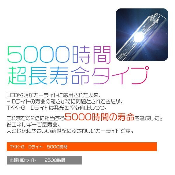 3%クーポンHIDバルブ  瞬速起動 高輝度 D2S D2R HIDバルブ水銀レス TKK-Gの快速起動 HIDバルブ ヘッドライト1年保証GD|hikaritrading1|06