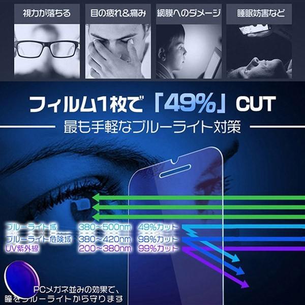 iPhone ガラスフィルム iPhoneX iPhone8/8Plus/7/7Plus/6s/6sPlus/6/6Plus 保護フィルム 強化ガラス ブルーライトカット スマホ 液晶 0.33mm 送料無 IP-6/7/8|hikaritrading1|02