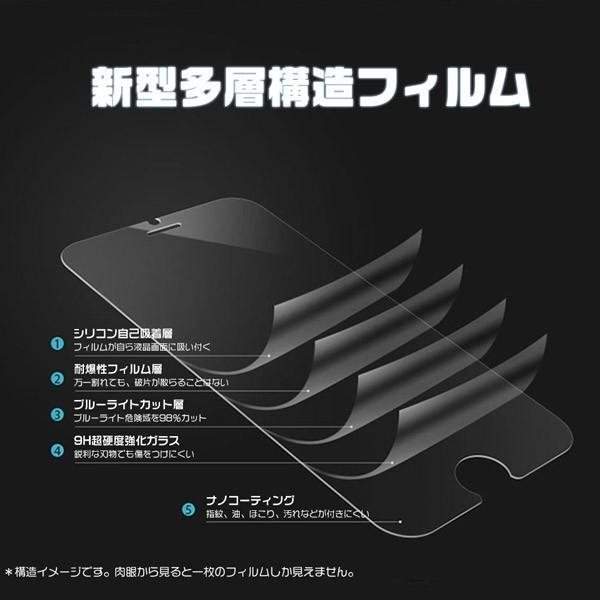 iPhone ガラスフィルム iPhoneX iPhone8/8Plus/7/7Plus/6s/6sPlus/6/6Plus 保護フィルム 強化ガラス ブルーライトカット スマホ 液晶 0.33mm 送料無 IP-6/7/8|hikaritrading1|03