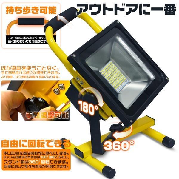 LED投光器 充電式作業灯 144wより明るい 160W+16w爆発フラッシュ 19600lm 最大点灯22時間 効率チップ 多色発光モード ledライト 防水 PSE適合 送料無 1個GY|hikaritrading1|05