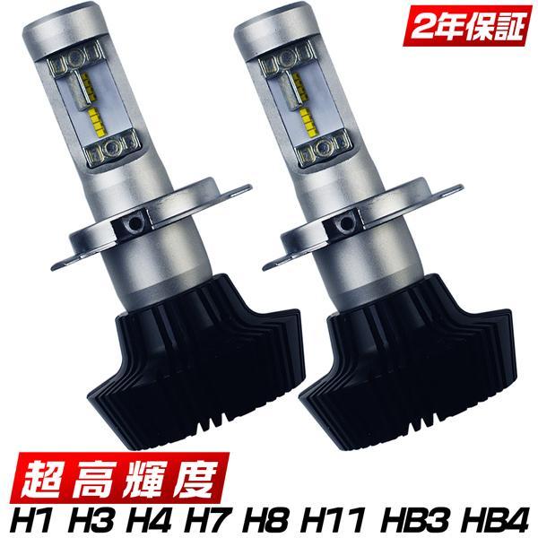 LEDヘッドライト ledフォグランプ H4 Hi/Lo H8 H11 HB3 HB4 8000LM 6500k 新基準車検対応 PHILIPS製 二面発光 高輝度 送料無料 LEDバルブ 2個P|hikaritrading1