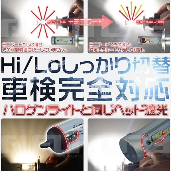 送料無料 Philipsに負けない 30w高輝度 高品質 LEDヘッドライト LEDフォグランプ Hi/Lo H4 5500k 新基準車検対応 二面発光 2個 8PS|hikaritrading1|02