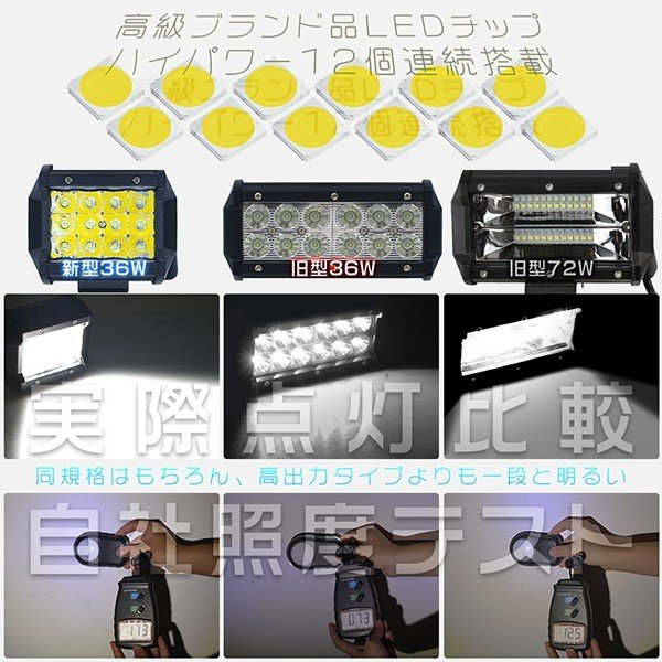3%クーポンLED作業灯 180W LEDワークライト LED サーチライト LED投光器 PL保険 60枚チップ 12V/24V IP67 防水 トラック 作業車対応1年保証 1個|hikaritrading1|02