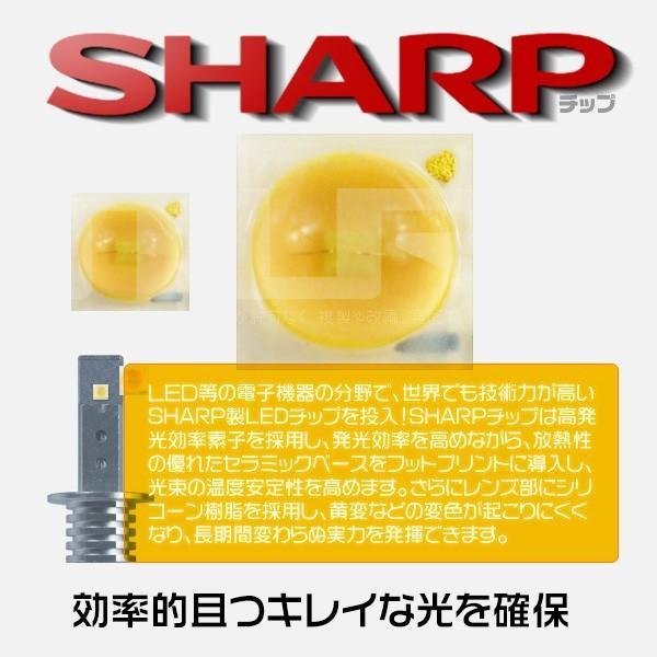 5%クーポンLEDバルブ 60W H1 H3 H3C LED SHARPチップ 12連搭載 360°無死角発光 二面発光 12V  LEDライト フォグランプLED化 2個セット|hikaritrading1|02