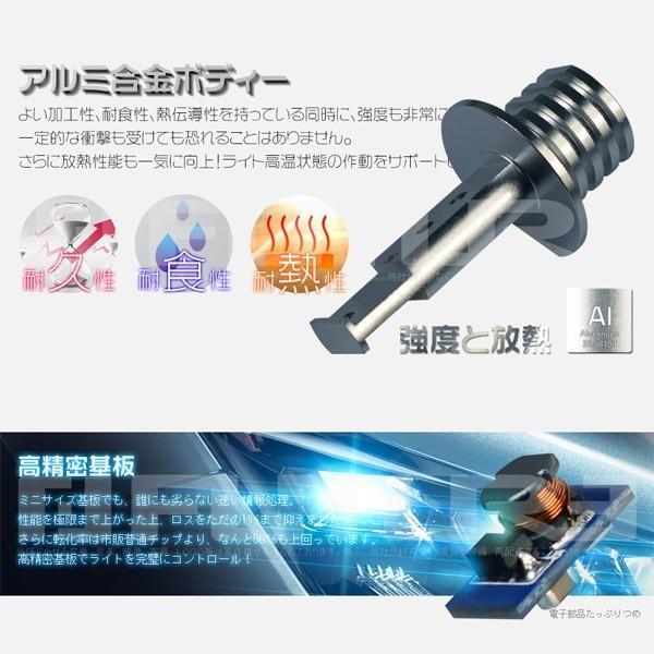 5%クーポンLEDバルブ 60W H1 H3 H3C LED SHARPチップ 12連搭載 360°無死角発光 二面発光 12V  LEDライト フォグランプLED化 2個セット|hikaritrading1|04
