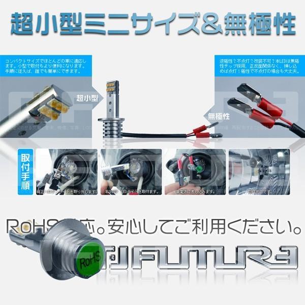 送料無料 LEDバルブ 60W H1 H3 H3C LED SHARPチップ 12連搭載 360°無死角発光 二面発光 12V  LEDライト フォグランプLED化 2個セット|hikaritrading1|05