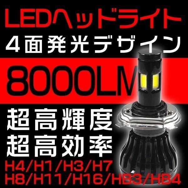 半額セール!3%クーポン!LEDヘッドライト/フォグランプ新世代COB型H4 H7 H8 H11 H16 Hi/Lo切替8000LM4面発光360°無死角発光バルブ2個nzg hikaritrading1