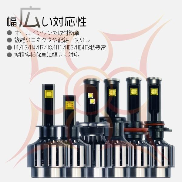 3%クーポンLEDヘッドライトフォグランプCREE 4チップEMC対応二面発光 40W オールインワン H1 H3 H7 H8 H11 slj GH|hikaritrading1|05