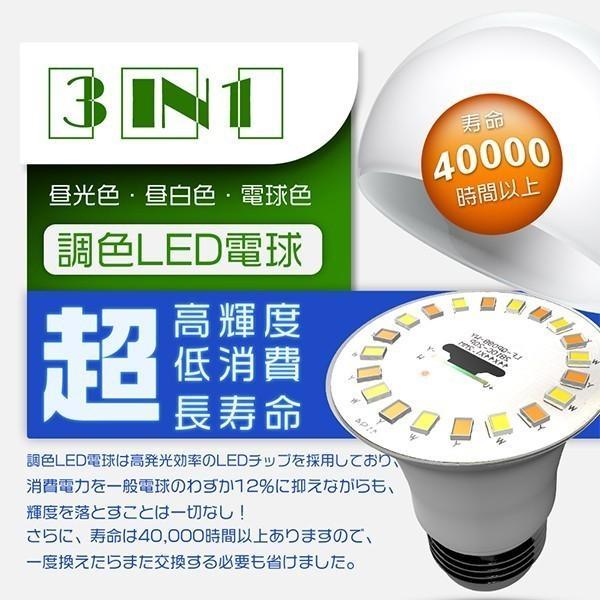 LED電球 E26 60w形 一般電球形 魔術電球 ワンクリックで色変更可能 広配光 調色タイプ 昼光色/電球色/昼白色切替え 節電 PSE ledランプ 5年保証 4個SE|hikaritrading1|03