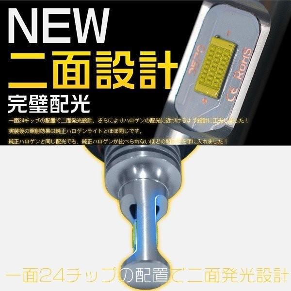 LEDフォグランプ H7 H8 H11 H16 HB3 HB4 ledライト 240W ファンレス チップ48枚搭載 ミニボディ ホワイト 1年保証 LEDバルブ 2個 送料無料 VLS|hikaritrading1|04