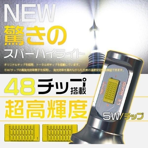 LEDフォグランプ H7 H8 H11 H16 HB3 HB4 ledライト 240W ファンレス チップ48枚搭載 ミニボディ ホワイト 1年保証 LEDバルブ 2個 送料無料 VLS|hikaritrading1|05