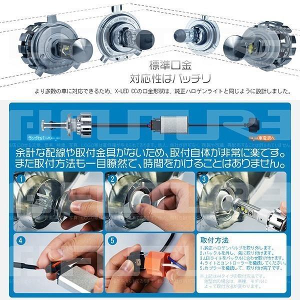 3%クーポンLEDヘッドライト フォグランプ 9600lm二面搭載 X-LED CC H1 H3 H4 H8 H11 HB3 HB4 5500k/2個v|hikaritrading1|05