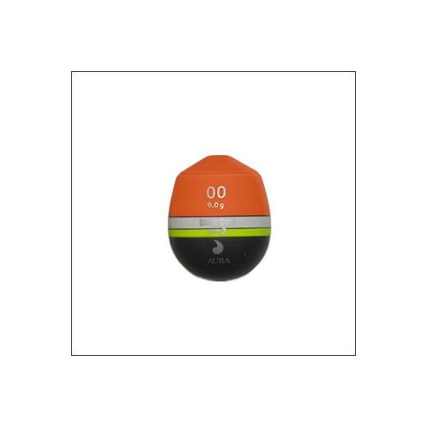 アウラ ベーシックグレ タイプ2 オレンジ 中通しウキAURA BASIC GURE TYPE2  Orange Head