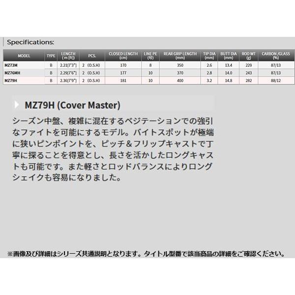 テンリュウ 天龍 ロッド 竿 雷魚 ミズチ SNAKE HEAD MIZUCHI MZ79H 2ピース TENRYU TEN018430